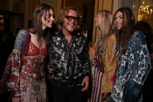Mandatory Credit: Photo by REX/Shutterstock (5901992j) Peter Dundas with models Roberto Cavalli show, Backstage, Spring Summer 2017, Milan Fashion Week, Italy - 21 Sep 2016